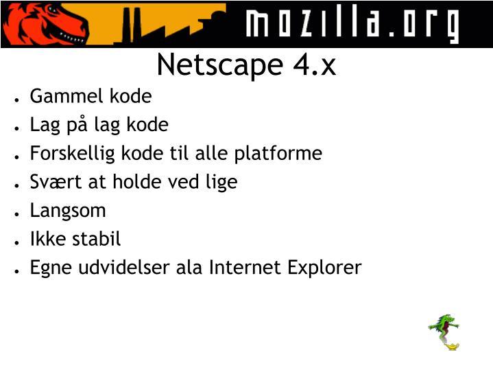 Netscape 4.x