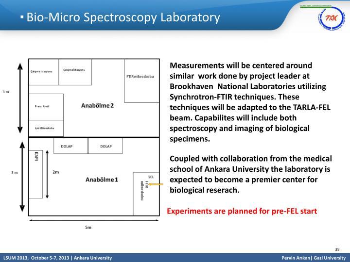 Bio-Micro Spectroscopy Laboratory