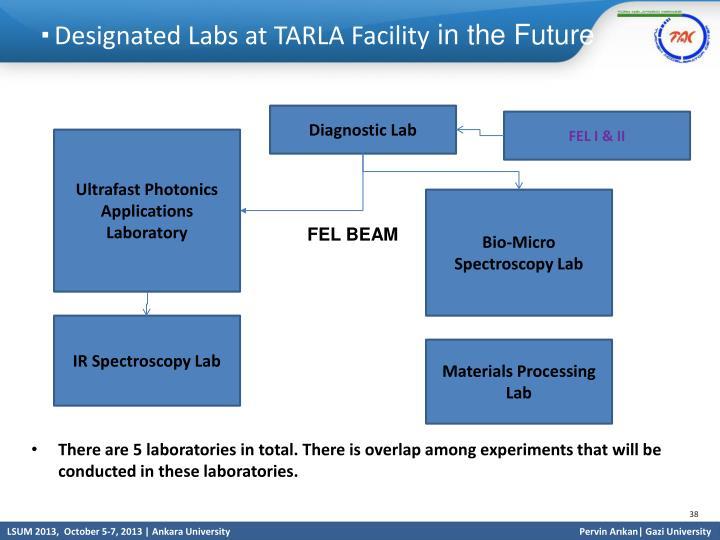 Designated Labs at TARLA Facility