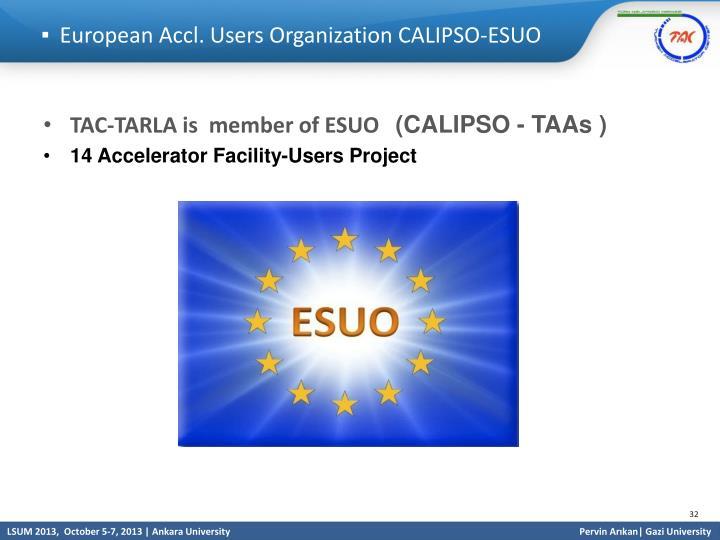 European Accl. Users Organization CALIPSO-ESUO