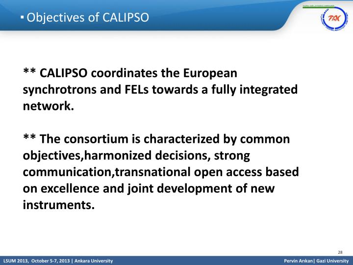 Objectives of CALIPSO