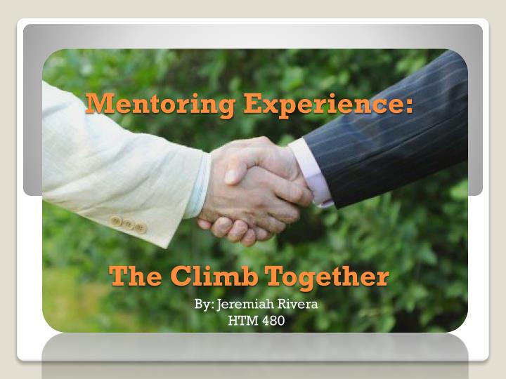 mentoring experience the climb together