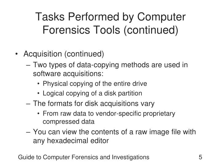 types of computer forensics