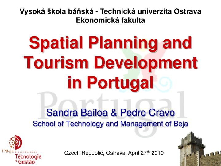 spatial planning and tourism development in portugal n.