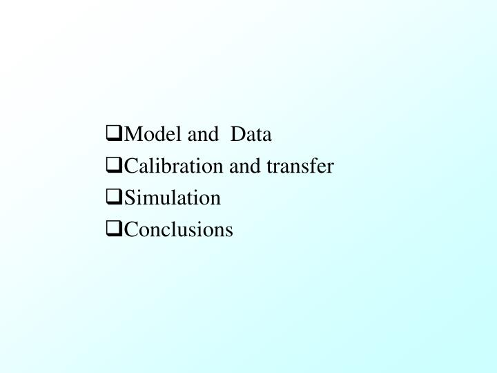 Model and  Data