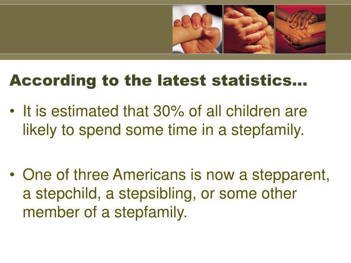 According to the latest statistics…