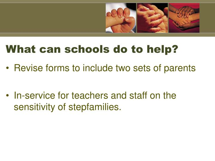 What can schools do to help?