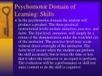 psychomotor domain of learning skills
