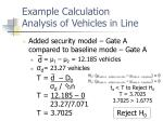 example calculation analysis of vehicles in line