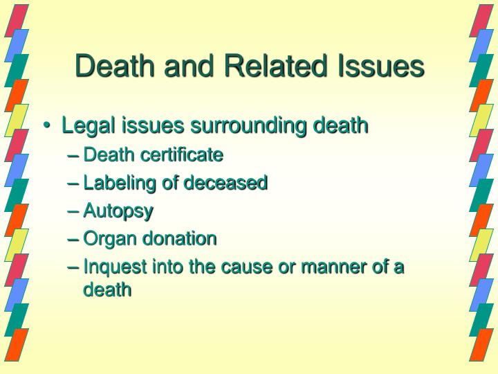 sensitive issues surrounding death Ethical issues in palliative care: introduction it's not death itself that people fear issues surrounding physical.