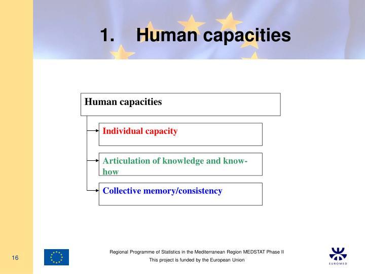 Human capacities