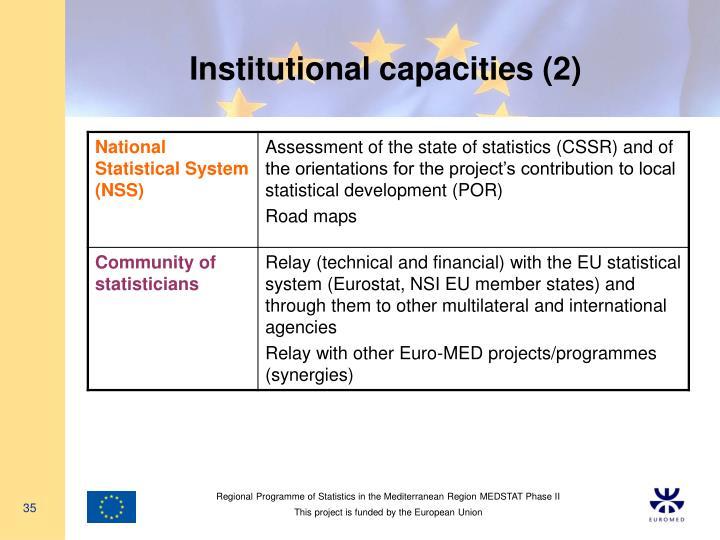 Institutional capacities (2)