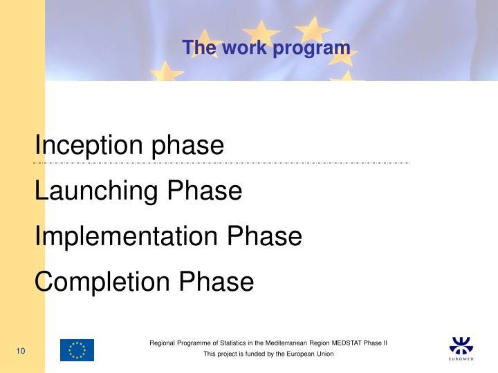 The work program