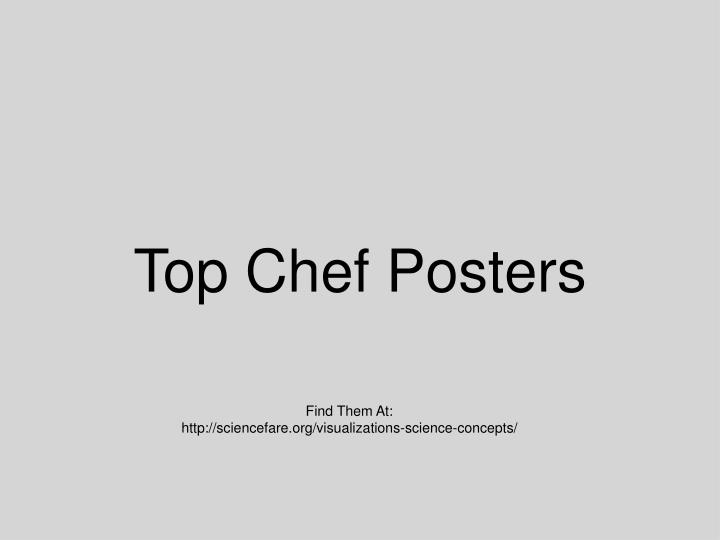 Top Chef Posters