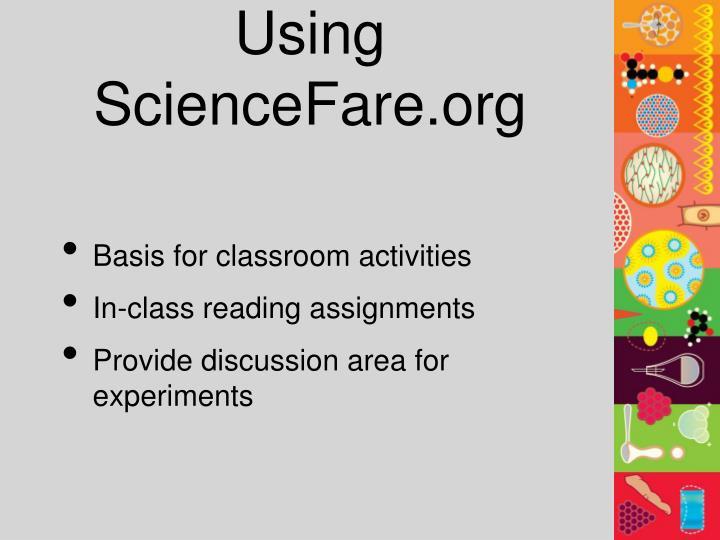 Using ScienceFare.org