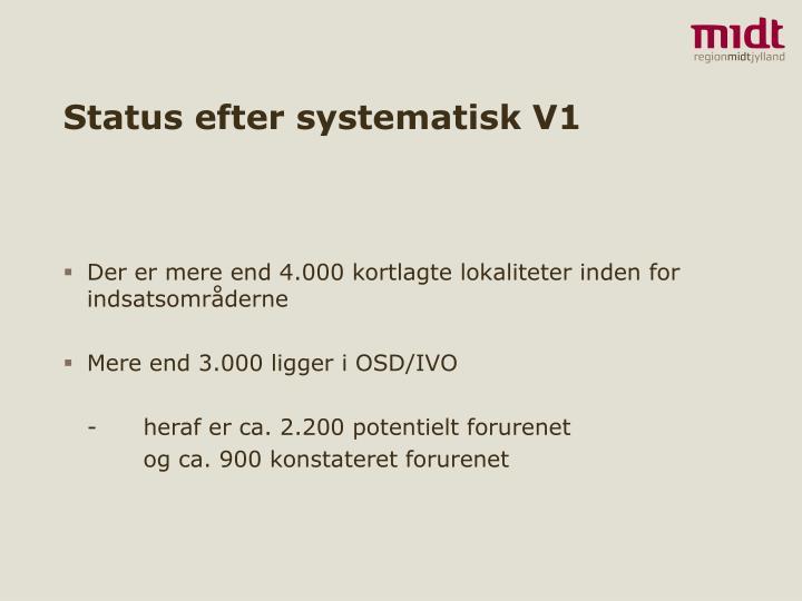 Status efter systematisk v1
