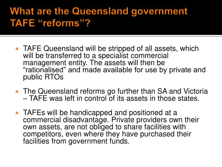What are the Queensland government