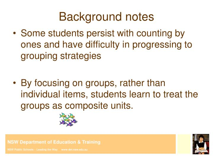 Background notes