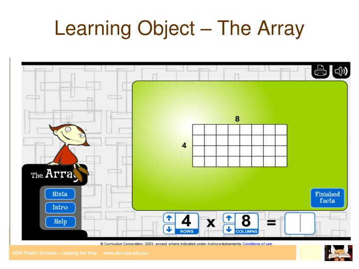 Learning Object – The Array