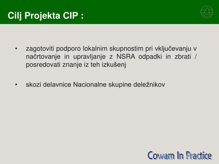 Cilj projekta cip