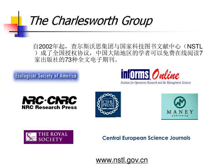 自2002年起,查尔斯沃思集团与国家科技图书文献中心(