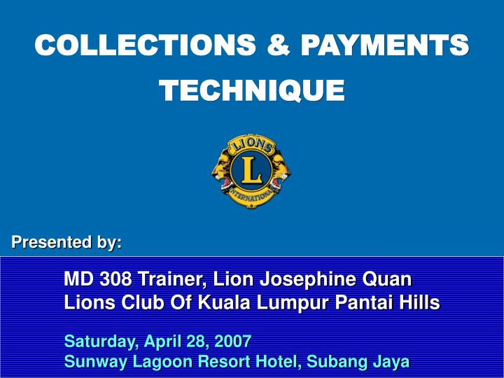 COLLECTIONS & PAYMENTS