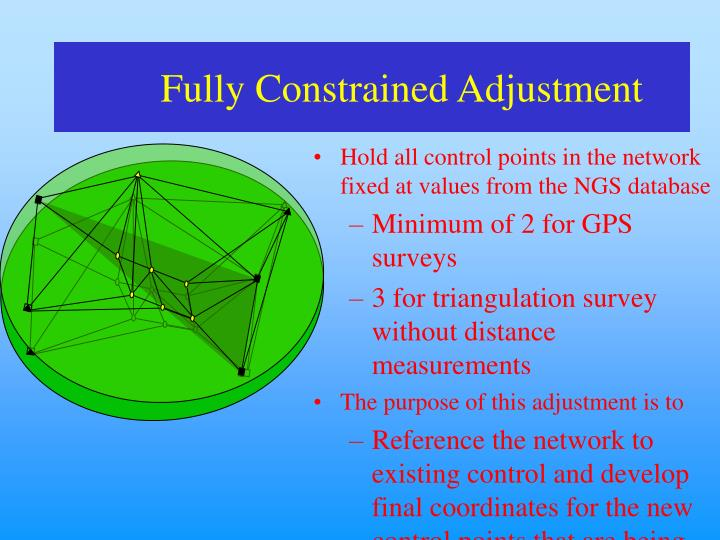 Fully Constrained Adjustment