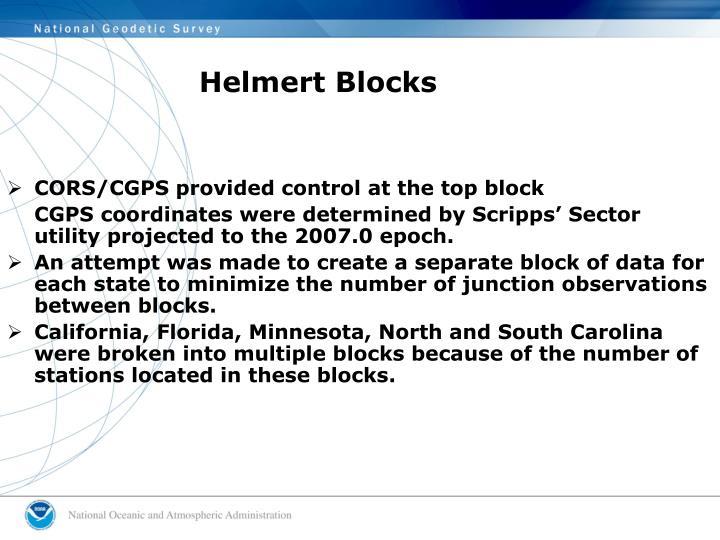 Helmert Blocks