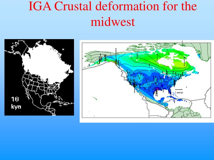IGA Crustal deformation for the midwest