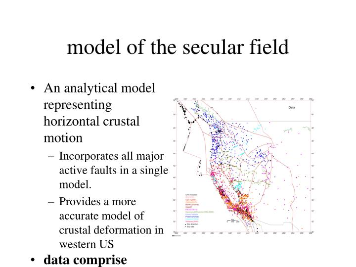 model of the secular field