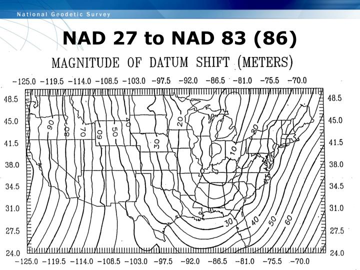NAD 27 to NAD 83 (86)