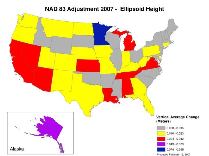 NAD 83 Adjustment 2007 -  Ellipsoid Height