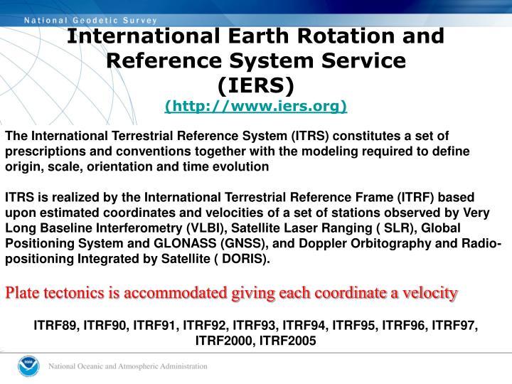 International Earth Rotation and