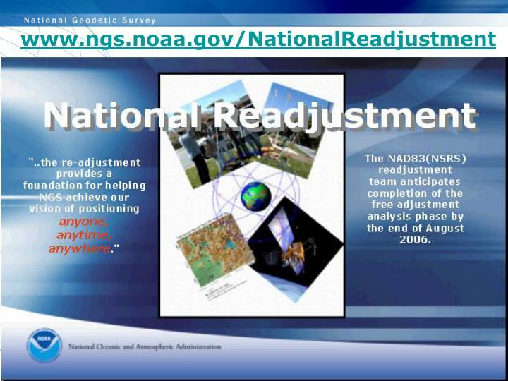 www.ngs.noaa.gov/NationalReadjustment