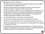 highlights of the fy 2010 11