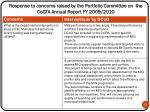 response to concerns raised by the portfolio committee on the cogta annual report fy 2009 20102