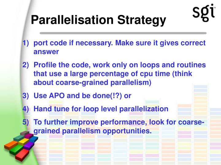 Parallelisation Strategy