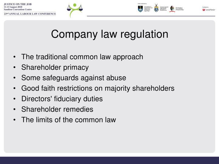 Company law regulation
