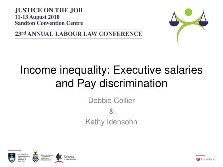 Income inequality executive salaries and pay discrimination