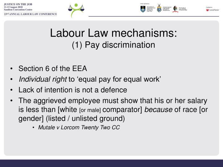 Labour Law mechanisms: