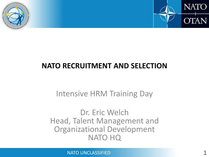 nato recruitment and selection n.