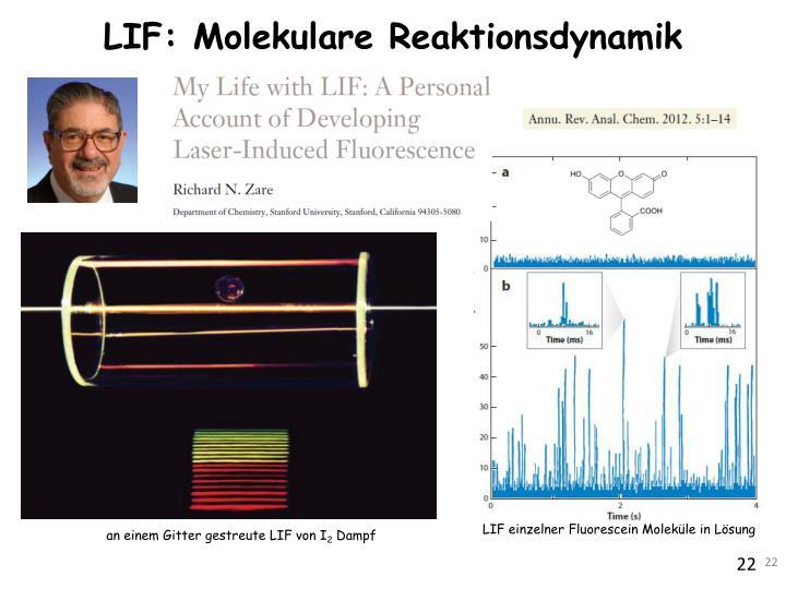 LIF: Molekulare Reaktionsdynamik