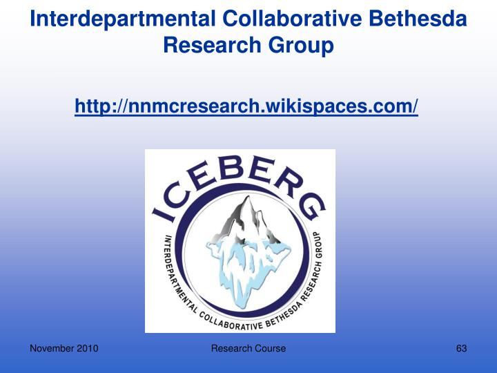 Interdepartmental Collaborative Bethesda