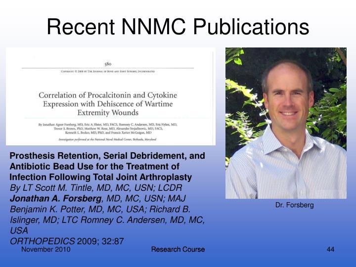 Recent NNMC Publications