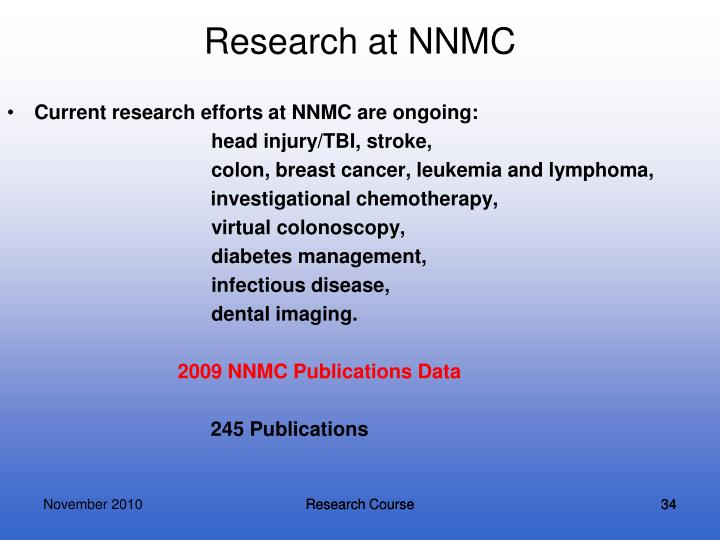 Research at NNMC