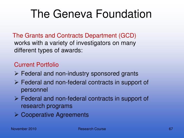 The Geneva Foundation