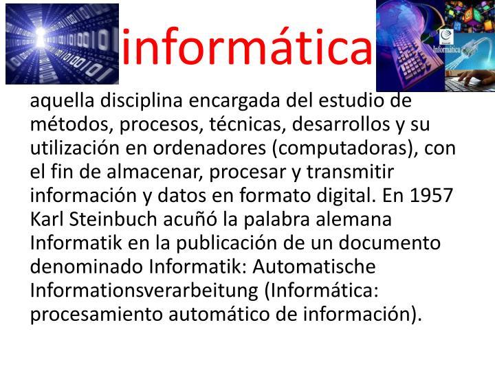 Inform tica