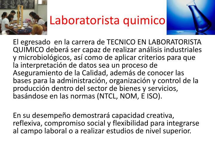 Laboratorista quimico