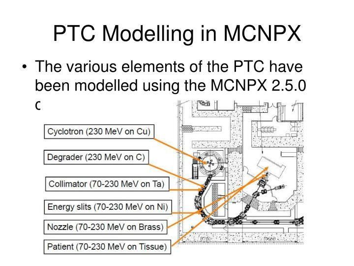 PTC Modelling in MCNPX