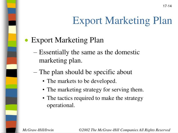 Export Marketing Plan